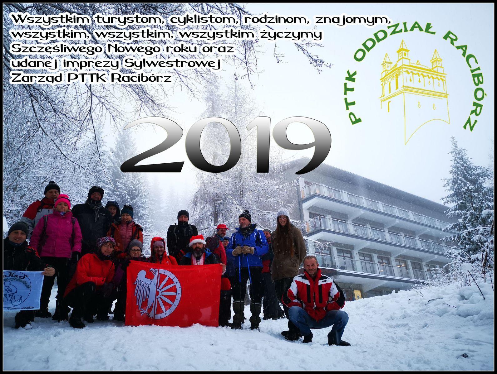 Szczęśliwego Nowego roku 2019 • PTTK Oddział w Raciborzu